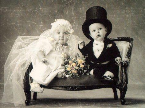 أصغر عريس وعروسة في الدنيا