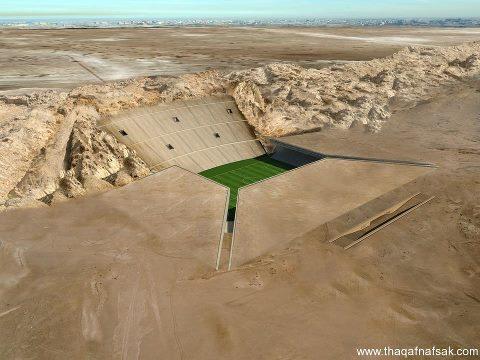 إستاد الصحراء في صحراء العين بالإمارات روعة فنية
