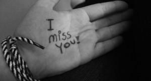 افتقدك بشدة
