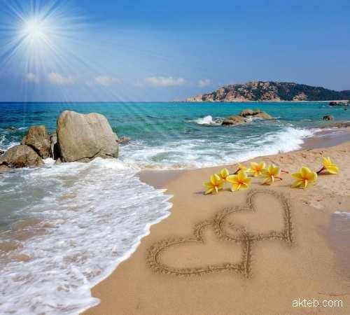 اكتب اسمك على صور شاطئ البحر أكتب اسمك على الصور