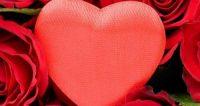 قلب احمر و ورود