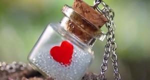 صور قلب داخل زجاجة