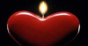 قلب شمعة