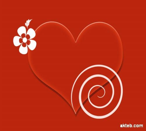 قلب احمر مزخرف