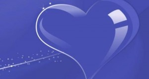 قلب بنفسجي