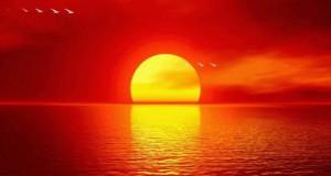 اروع غروب للشمس